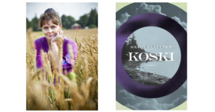 Heidi Jaatinen ja Koski-romaanin kansikuva