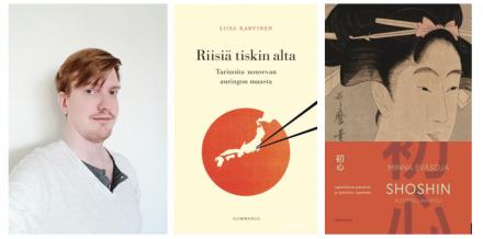Juhana Henrikki Harju ja Riisiä tiskin alta sekä Shoshin: aloittelijan mieli -kansikuvat