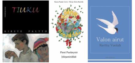 Kolmen saamelaiskirjan kannet liittyen Turku 2015 -artikkeliin