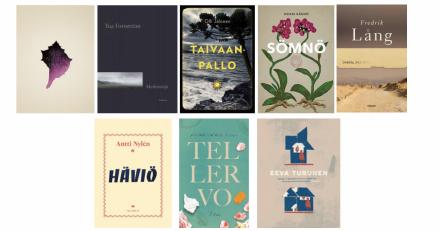 Runeberg-palkinnon ehdokasteosten kansikuvat 2019