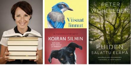 Marikan kirjajuttuja: kolme tietokirjaa luontokappaleiden elämästä -artikkelikuva