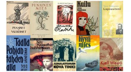 Kansikuvakollaasi Suomen sisällissotaa käsittelevistä kirjoista
