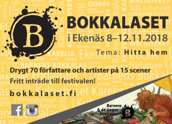 Bokkalaset i Ekenäs 2018 annons