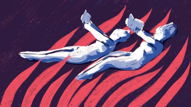 Roihuvuoren kirjamessut -logo